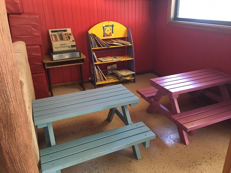 kid friendly cafe canberra - weston park cafe children's play area pic