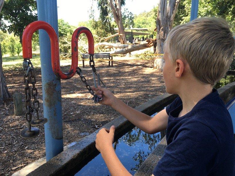 weston park adventure playground in canberra musical instruments