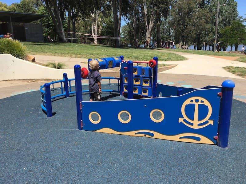 ship playground for kids at yarralumla playground pic