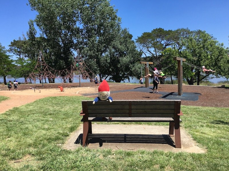swings at yarralumla weston park playground area pic
