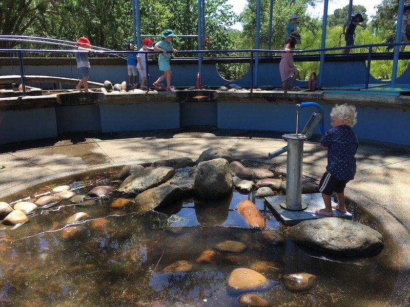 weston park adventure playground water pump pic 2