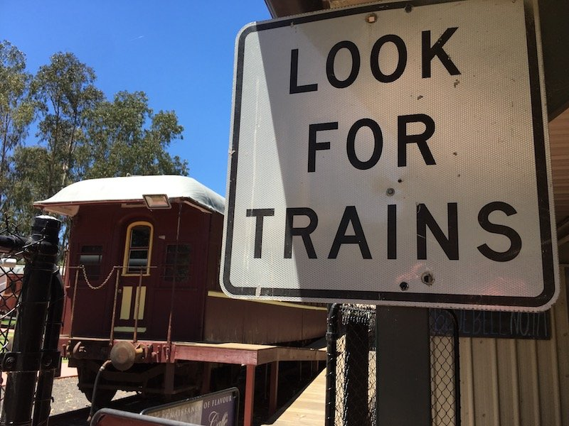 yarralumla play station - weston park railway look for trains sign pic