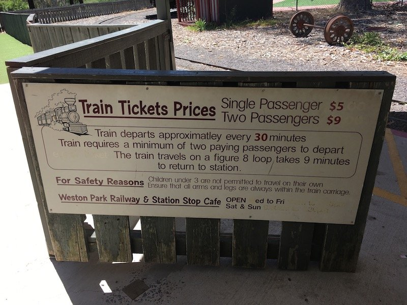 yarralumla play station weston park train ticket prices sign pic