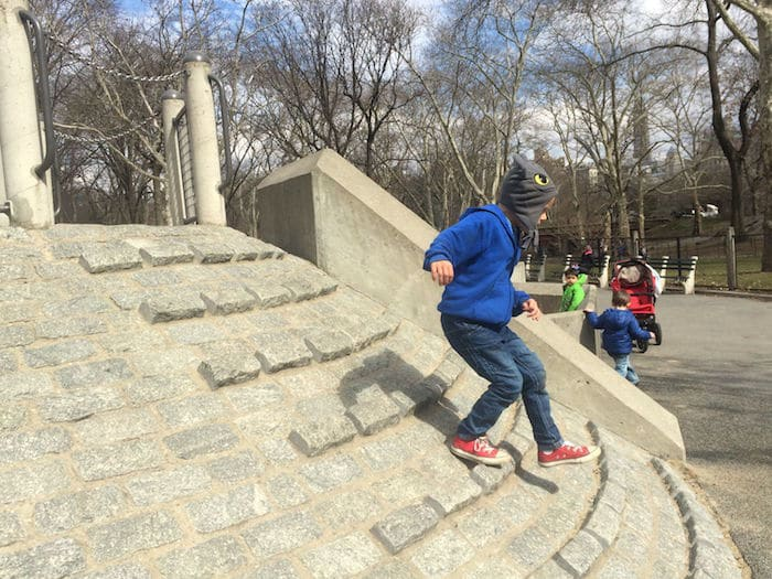 Unique things to do in NYC? play parkour at the heckscher playground in central park