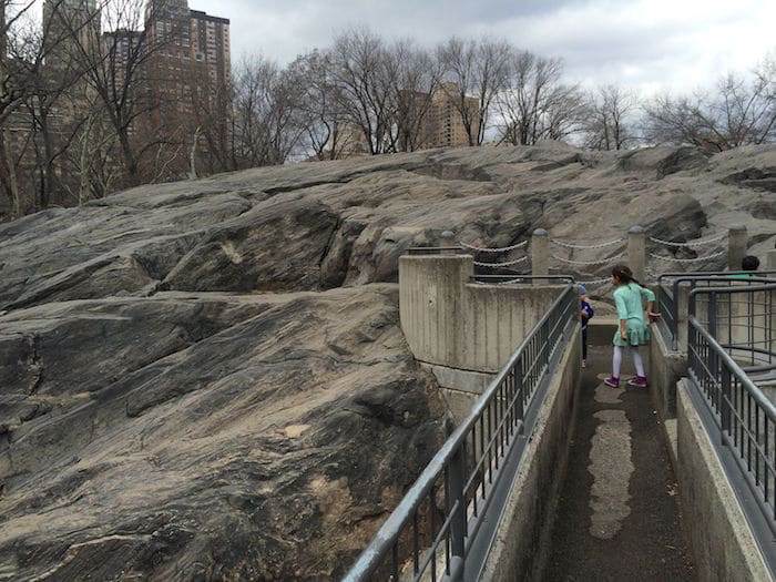 Visit ROAM THE GNOME Family Travel Website Directory for SUPER DOOPER FUN ideas for family vacations around the world. Search by city. Photo- Heckscher Playground Central Park rocks