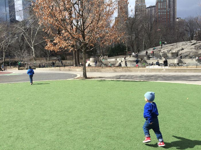 Visit ROAM THE GNOME Family Travel Website Directory for SUPER DOOPER FUN ideas for family vacations around the world. Search by city. Photo- Heckscher Playground Central Park green