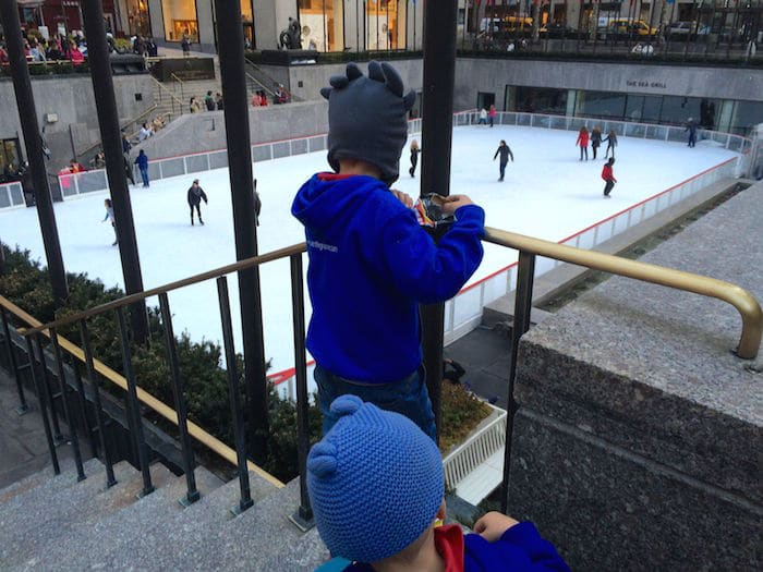 Visit ROAM THE GNOME Family Travel Website Directory for SUPER DOOPER FUN ideas for family vacations around the world. Search by city. Photo - Lego Brick Store New York ice skating at the Rockefeller Rink
