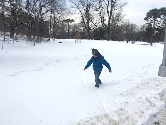 Visit ROAM THE GNOME Family Travel Directory for MORE SUPER DOOPER FUN ideas for family-friendly travel around the world. Search by City. Photo - Vanderbilt Playground Prospect Park Brooklyn fun in the snow