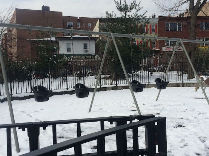 Visit ROAM THE GNOME Family Travel Directory for MORE SUPER DOOPER FUN ideas for family-friendly travel around the world. Search by City. Photo - Vanderbilt Playground Prospect Park Brooklyn climbing frame