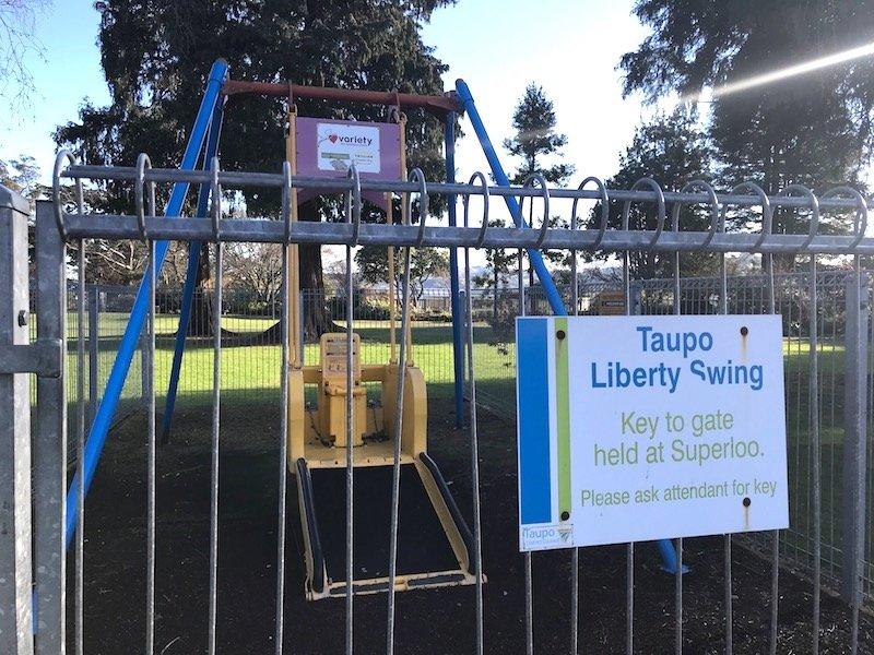 photo - taupo playground liberty swing