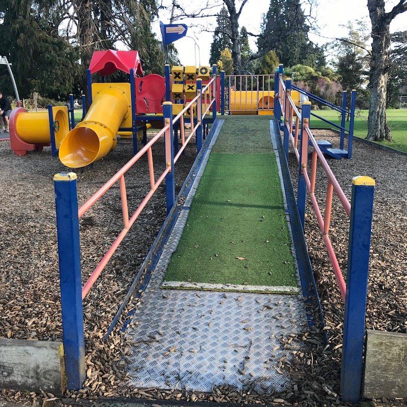 photo - taupo playground walkway