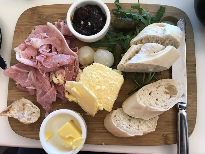 ploughmans lunch at the gallery cafe