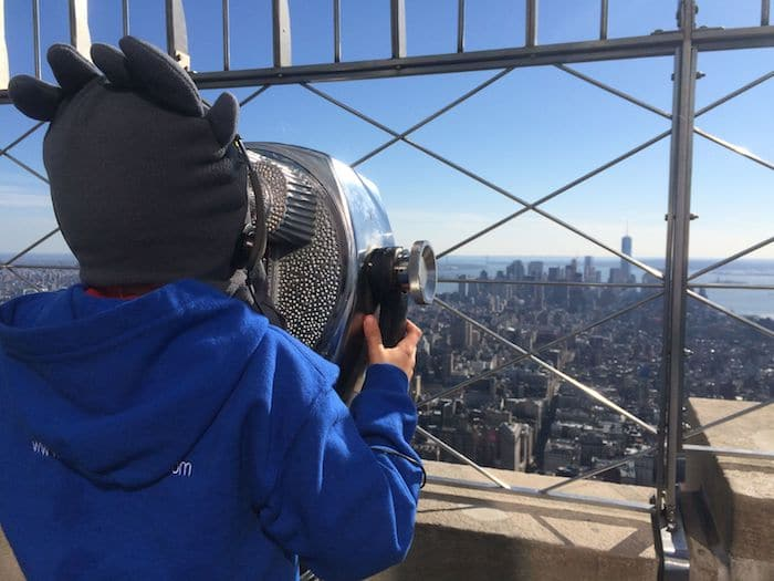 Empire State Building for Kids. Ned view. Visit ROAM THE GNOME FAMILY TRAVEL WEBSITE. Hundreds of fun ideas & activities to help you plan & book your next family vacation or weekend adventure