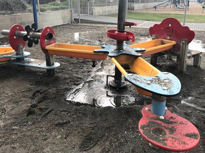 Napier Playground mud play pic