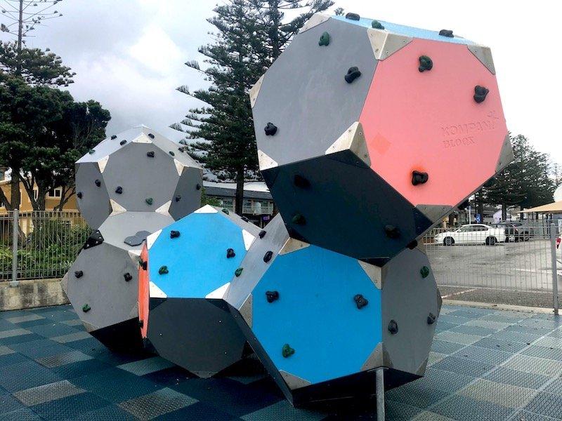 Napier Playground rock climbing wall pic