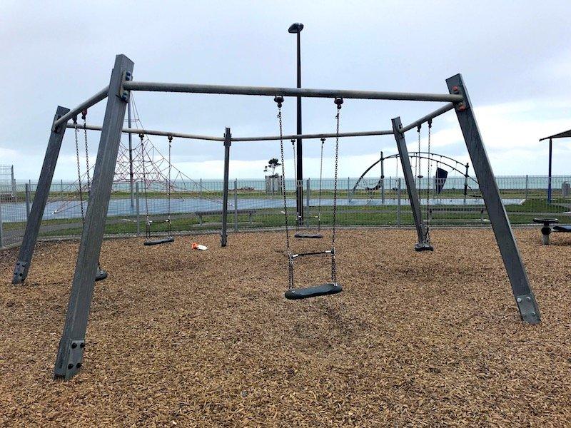 Napier Playground swings & pyramid tower