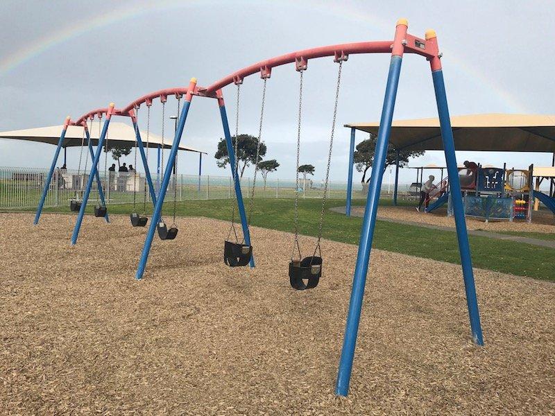 Napier Playground swings