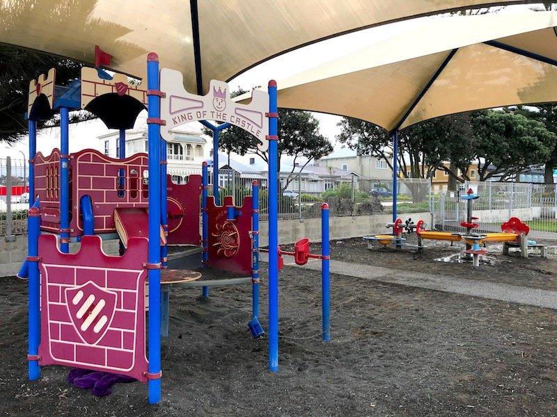 Napier Playground toddler fort