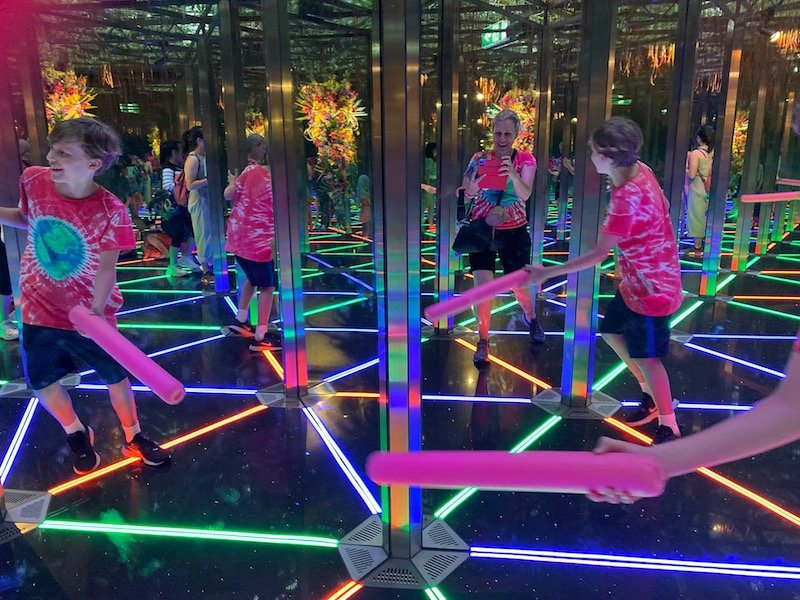mirror maze at canopy park jewel changi 800 pic