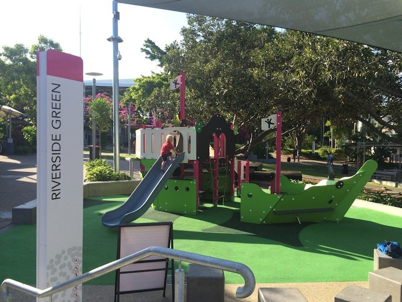 riverside green playground in brisbane southbank pic