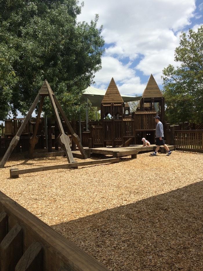 Albert Park Playground Melbourne mulch yard pic