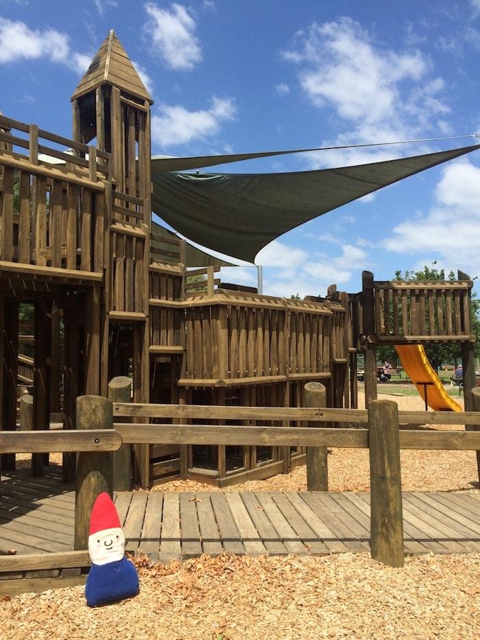Albert Park playground castle turrets pic
