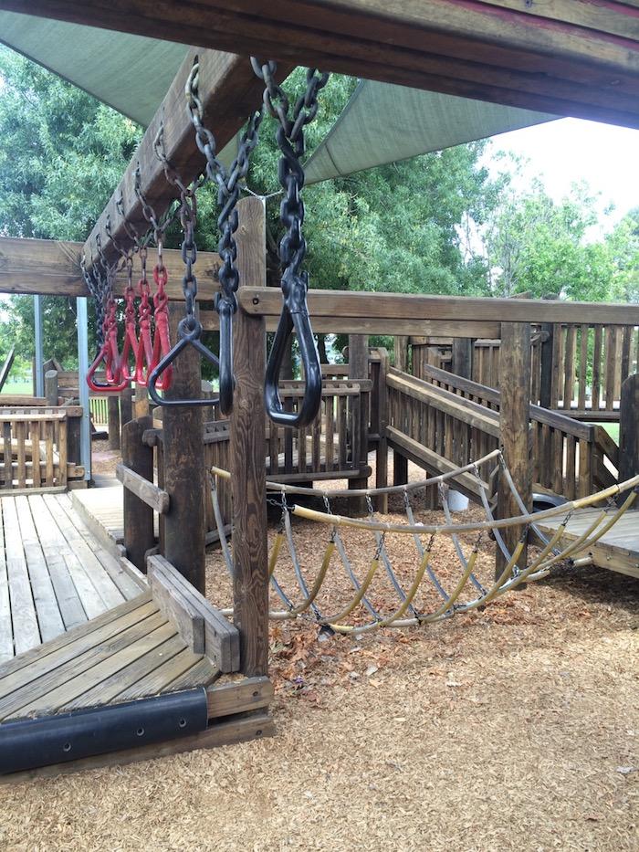 Albert Park playground swing bridge pic