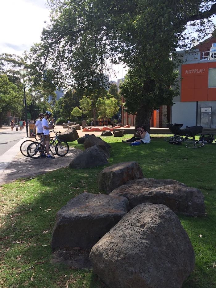 Birrarung Marr park Melbourne Vic pic