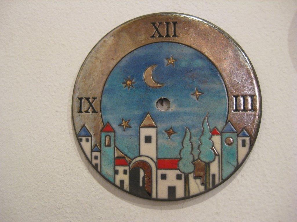 unique Italy souvenirs - Raku ceramic clocks