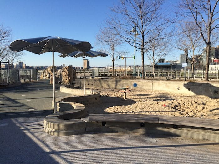 Hudson River Park Pier 25 Playground Scramble Net. ROAM THE GNOME Family Travel Website. Hundreds of fun ideas and activities to help you plan and book your next family vacation or weekend adventure.