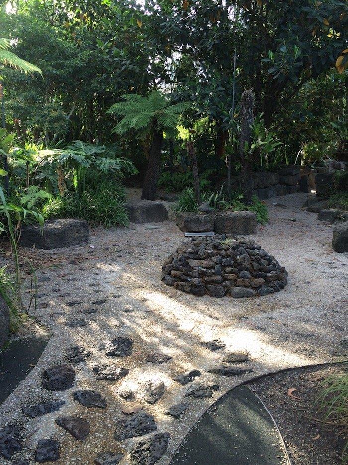 Ian Potter Childrens Garden Melbourne stone cairn pic