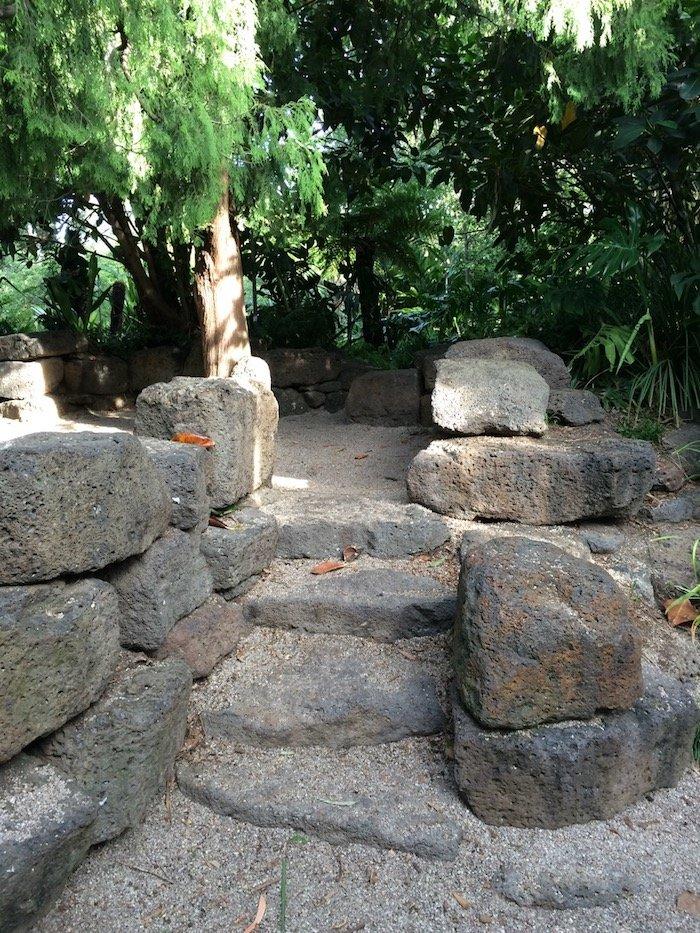 Ian Potter Childrens Garden Melbourne stone climbing area pic