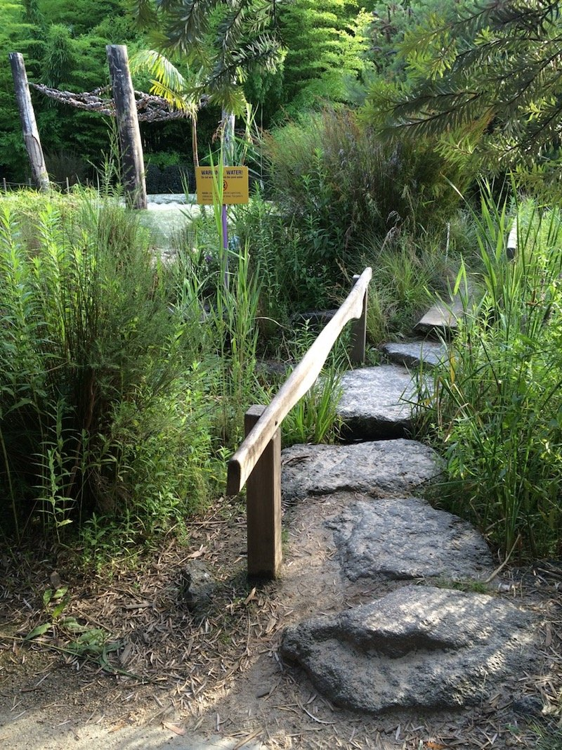 Ian Potter Childrens Garden Melbourne - the gorge 800