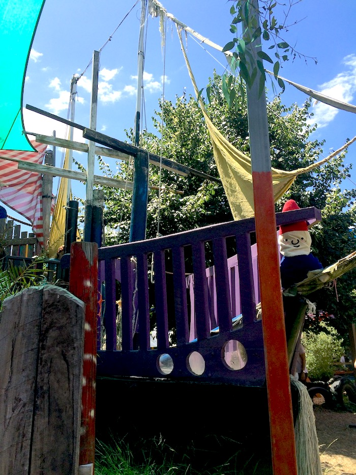 St Kilda Playground Melbourne painted play area pic