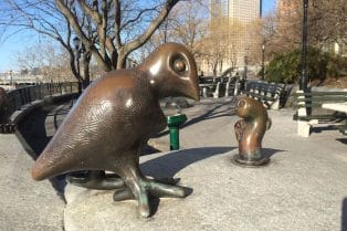 Tom Otterness Battery Park City. NYC ROAM THE GNOME Family Travel Website. Hundreds of fun ideas and activities to help you plan and book your next family vacation or weekend adventure.