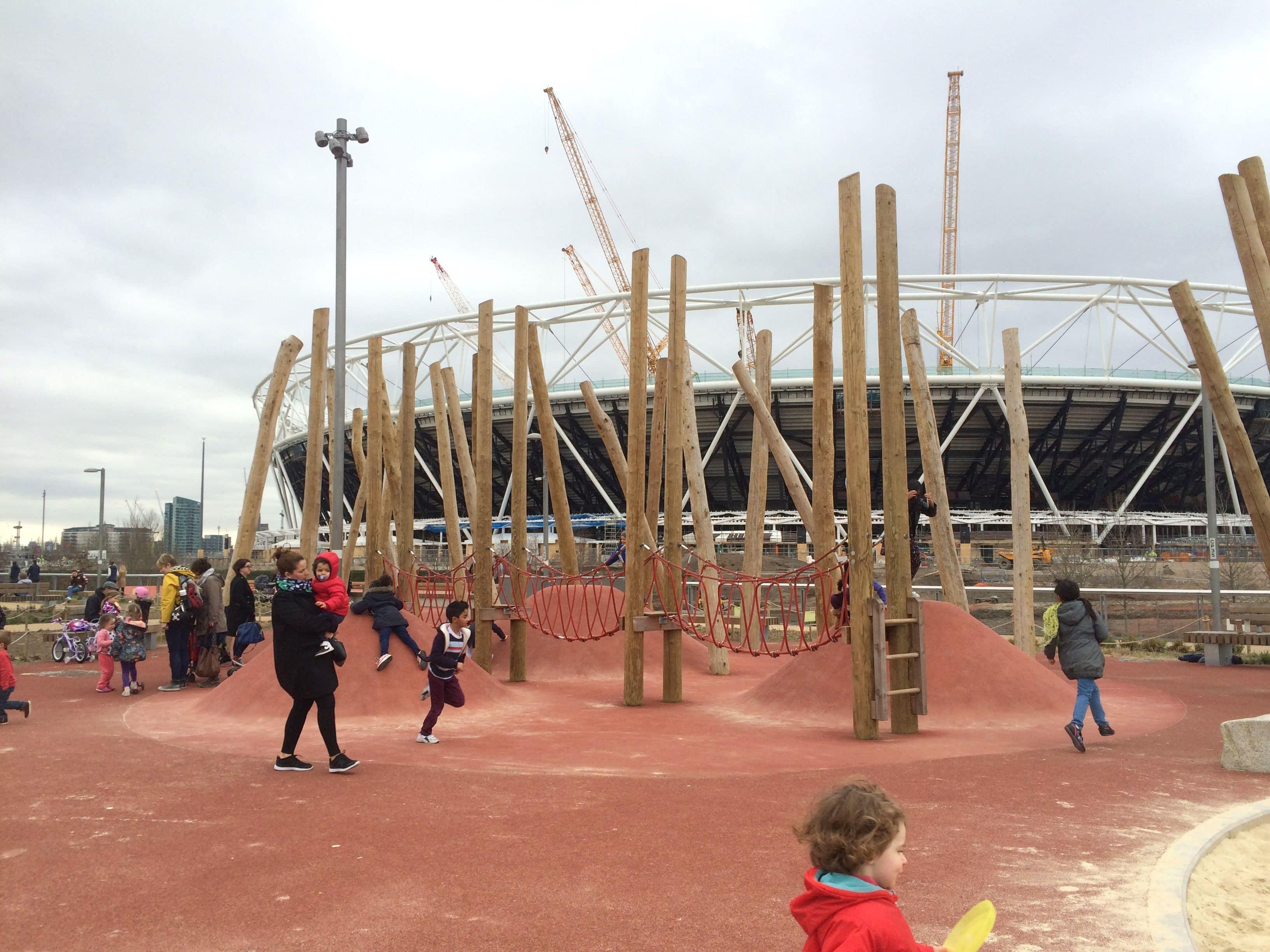 pleasure gardens olympic park playground in london