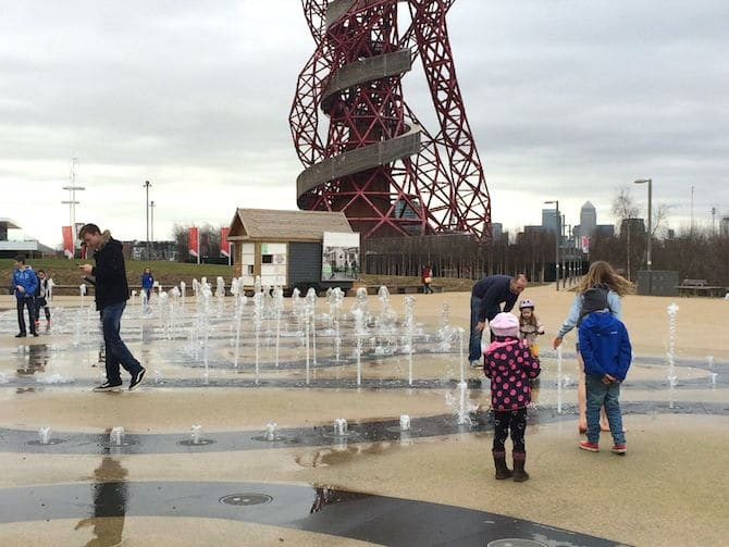 Waterplay at Adventure Playground Olympic Park . ROAM THE GNOME Family Travel Website.