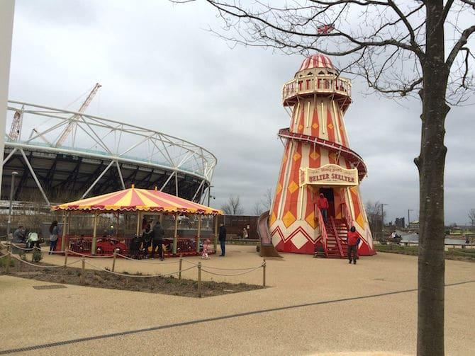 Pleasure gardens sideshow Adventure Playground Olympic Park . ROAM THE GNOME Family Travel Website.