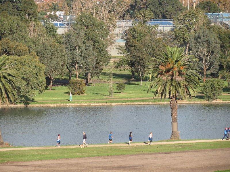 albert park lake runners by ken hodge