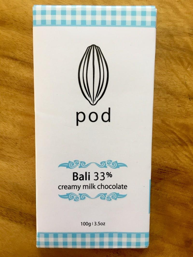 bali pod chocolate for sale at matahari supermarket kuta pic