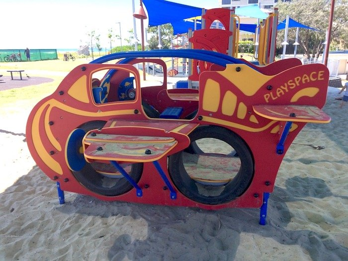 photo - tallebudgera surf club playground airplane equipment