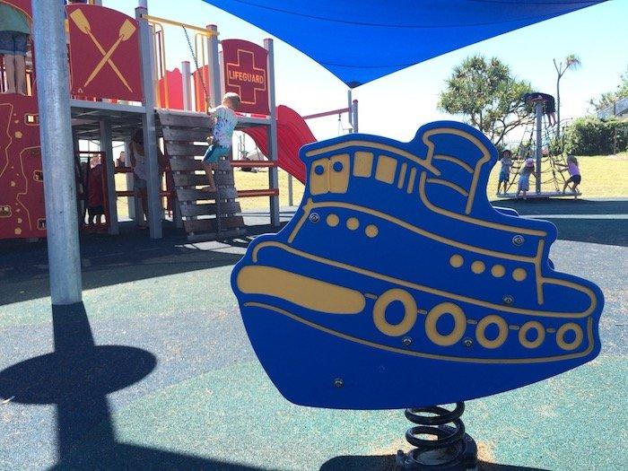 photo - tallebudgera surf club playground boat rocker