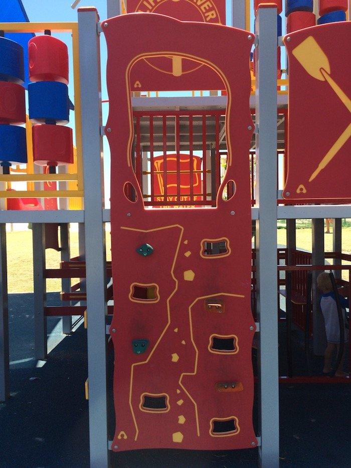 photo - tallebudgera surf club playground climbing wall