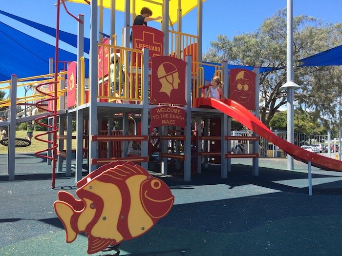 photo - tallebudgera surf club playground fort with fish