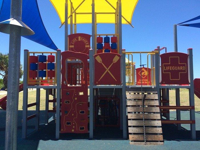 photo - tallebudgera surf club playground lifeguard tower