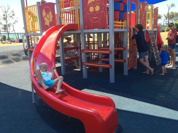 photo - tallebudgera surf club playground red slide