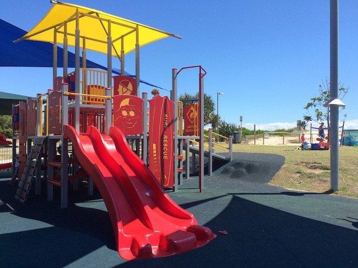 photo - tallebudgera surf club playground slides
