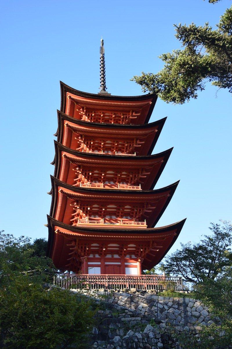 see the five story pagoda on a miyajima day trip to the island japan pic