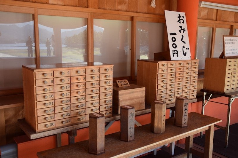 choose your fortune at miyajima island japan pic