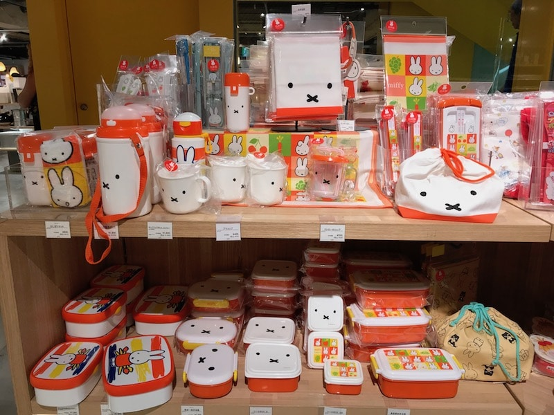 miffy bento boxes at loft shibuya